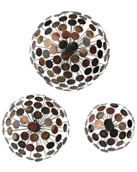 Set Of 3 Dandelion Wall Sculptures by