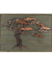 Wood Metal Tree Wall Art by