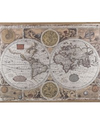 Antique Style World Map Wall Art by