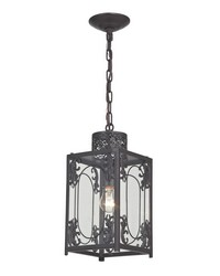 Belwood-Rustic Iron Lantern With Filigree Detail by