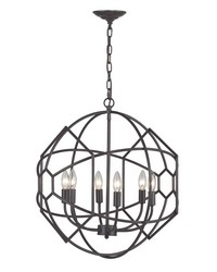 Strathroy 6 Light Orb Chandelier With Honeycomb Metal Work By by
