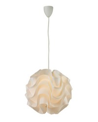 Balvorie-Contemporary Wave Pendant In White by