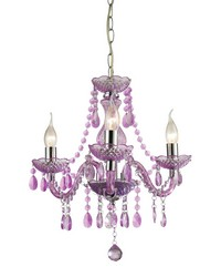 Theatre-3 Light Purple Mini Chandelier by