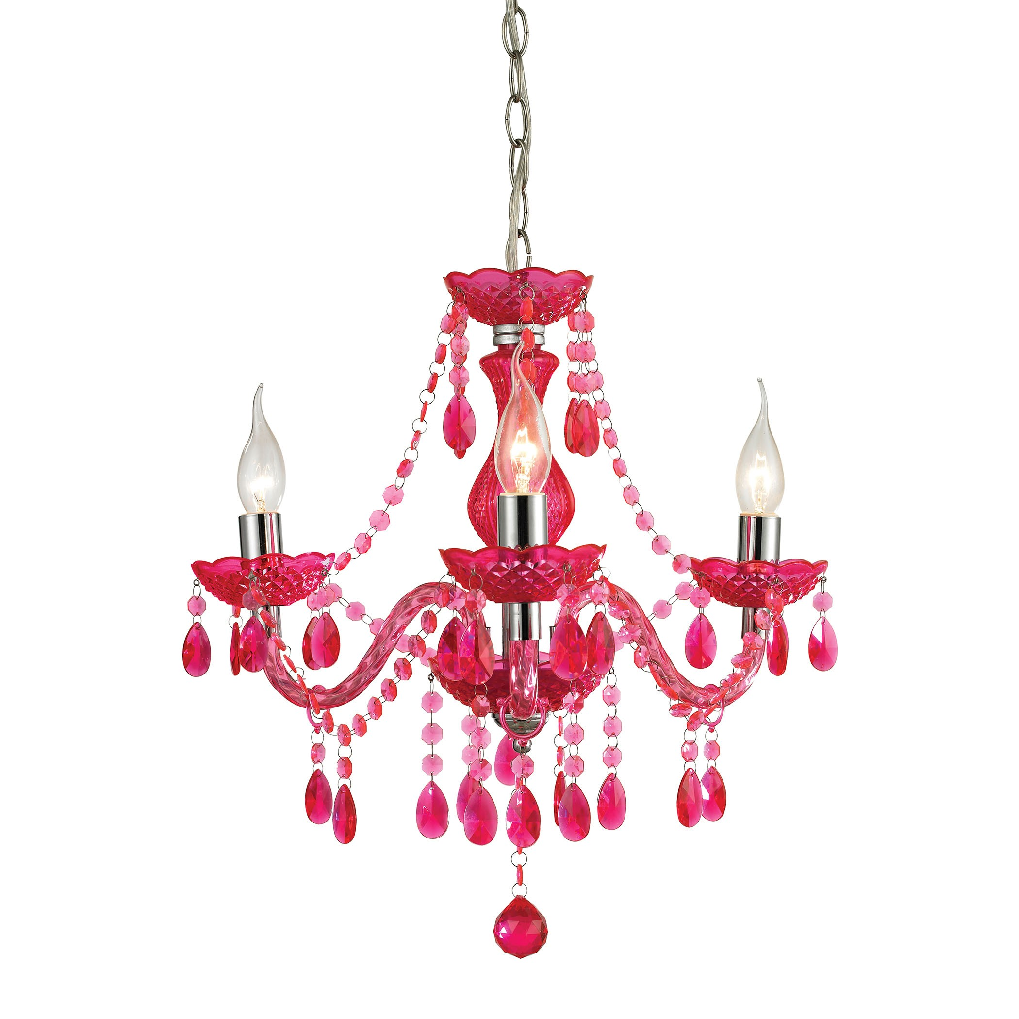 Theatre 3 light cerise pink mini chandelier interiordecorating sterling theatre 3 light cerise pink mini chandelier cerise pinkchrome search results arubaitofo Gallery