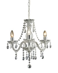 Theatre-3 Light Clear Mini Chandelier by