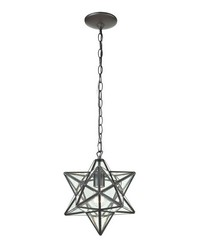 Star-1Light Glass Pendant Lamp 10in by
