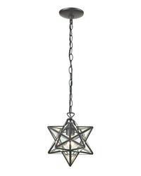 Star-1Light Glass Pendant Lamp 12in by