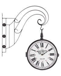 Double Sided Iron Scroll Wall Clock by