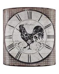 Stylized Rooster Wall Clock by