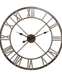 Open Center Iron Wall Clock by