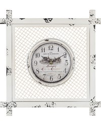 Vintage Style Clock in Square Mesh by