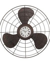 Antique Fan Clock by