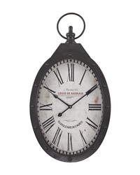 Oval Iron Wall Clock by