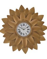 Gold Petal Wall Clock by