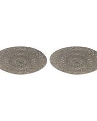 Set of 2 Pierced Metal Tray by