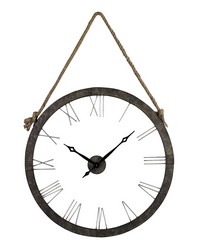 Metal Wall Clock Hung On Rope by