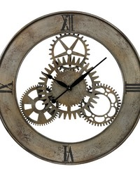 Industrial Cog Wall Clock By by