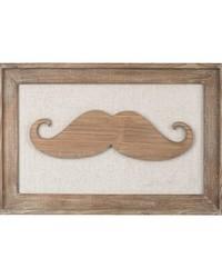 Moustache on Linen by