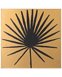 Palm Frond on Metallic Gold Wood by