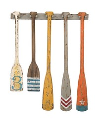 Hand Painted Oars Wall Display by