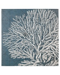 White Coral Print by