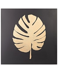 Metallic Palm Frond on Black by
