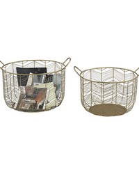 Tuckernuck 2-Piece Metal Bowl Set In Gold by