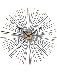 Shockfront Black and Gold 36-Inch Metal Wall Clock by