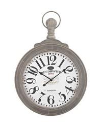 Haymarket Wall Clock In Preda Aged Grey by