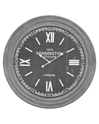 London Wall Clock In Preda Aged Grey by