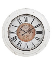 Theodore Wall Clock In Antique White by