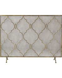 Agra Antique Gold 34-Inch Metal Fire Screen by