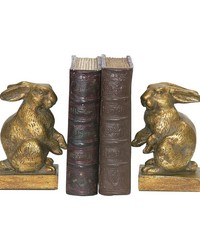 Pair Of Baby Rabbit Bookends by