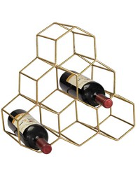 Angular Study Hexagonal Wine Rack by