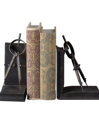 Compass Bookends by
