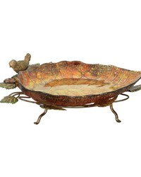 Autumn Leaf Finch Bowl by