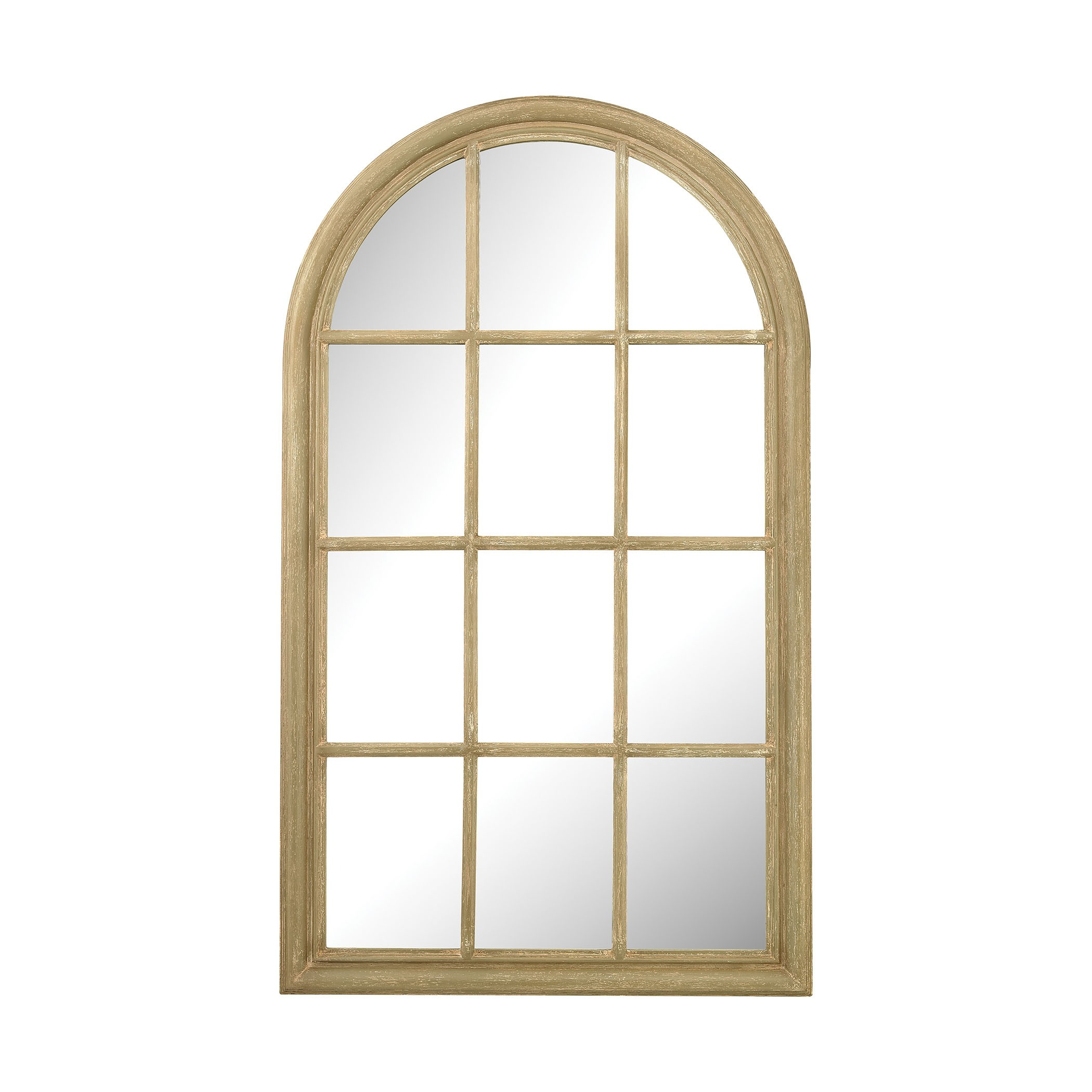 Arched window pane mirror interiordecorating for Window mirror