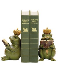 Pair of Superior Frog Gatekeeper Bookends by
