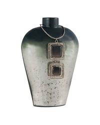 Vase Kairos 11-Inch Glass Vase In Slate by