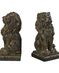 Lion Bookends by