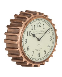 Aged Copper Clock by