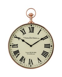Polished Copper Wall Clock by