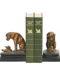 Pair Turtle And Labrador Retriever Bookends by