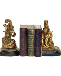 Pair Tuscan Scroll Bookends by