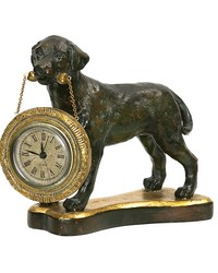 Labrador Retriever Desk Display Clock by