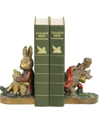 Pair Of Tortoise And Hare Bookends by