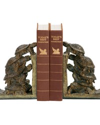 Pair of Turtle Tower Bookends by