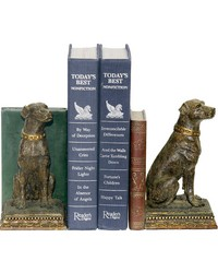 Pair of Chocolate Lab Bookends by