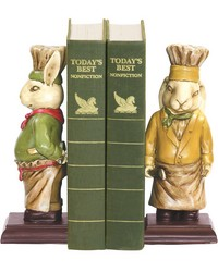 Pair Of Chef Bunny Bookends by