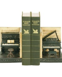 Pair Dueling Piano Bookends by